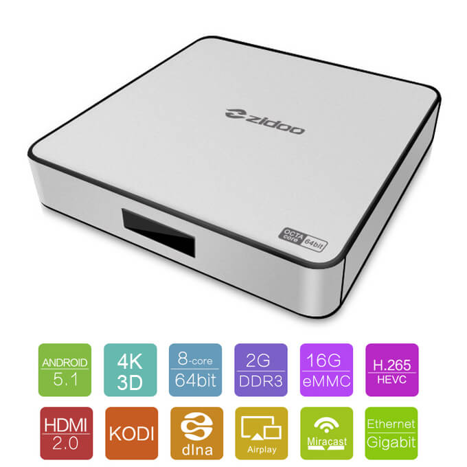 ZIDOO-X6-Pro-Android-5-1-Lollipop-TV-Box-RK3368-Octa-Core-Cortex-A53-2G-16G